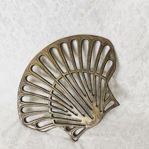 Solid Brass Shell Trivet